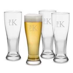 Pilsner Glassware Set with Monogram