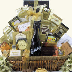 Grand Gourmet Bubbly Sparkling Wine Gift Basket