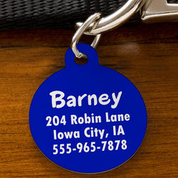 You Name It Personalized Circle Pet Tag