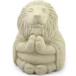 Meditating Buddha Lion Garden Statue