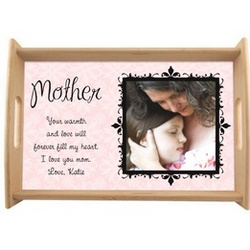 Message for Mother Photo Serving Tray