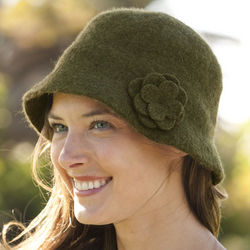 Barbour Felted Wool Cloche Hat