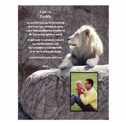 New Daddy Personalized Poem with Lion