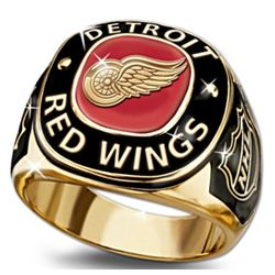 Detroit Red Wings 24K Gold-Plated Men's Ring