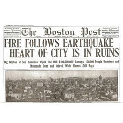 San Francisco Earthquake Historic Paper