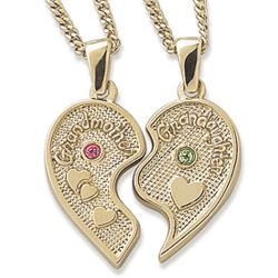 Grandmother and Granddaughter Share-able Pendants