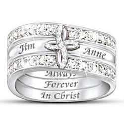Always Forever in Christ Stacking Rings