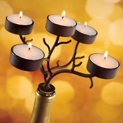 5 Tea Light Branches Wine Bottle Candelabra