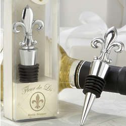 Fleur De Lis Chrome Bottle Stopper