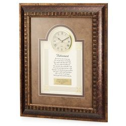 Retirement Poem with Framed Clock