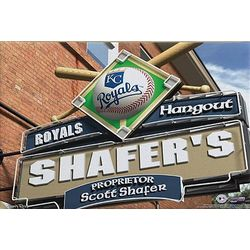 Personalized Kansas City Royals Pub Sign