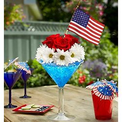 Cheers to the Red, White and Blue Bouquet
