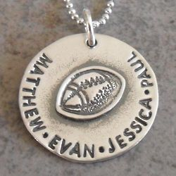 Daddy's Team Personalized Hand Stamped Necklace