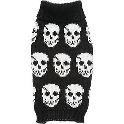 Large Black Multi-Skull Dog Sweater