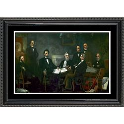 Signing of the Emancipation Proclamation Framed Print