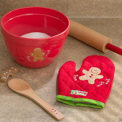 Personalized Gingerbread Man Baking Set