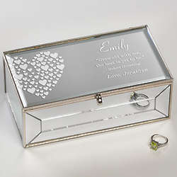 Love is Kind Personalized Small Mirrored Jewelry Box