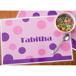 Personalized Polka Dot Placemat