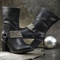 Beaded Ankle Boot