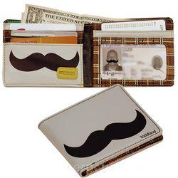 Mustache Vinyl Wallet