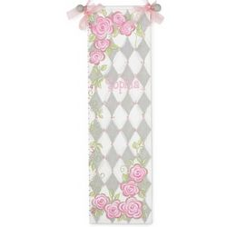 Gray Rose Hand-Painted Growth Chart
