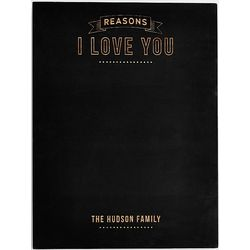 Personalized Reasons I Love You Chalkboard