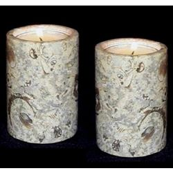 Coral Stone Tea Light Candle Holders