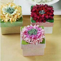 Paper Flower Favor Gift Boxes