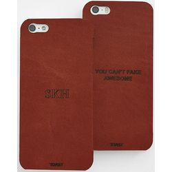 Personalized Leather iPhone 5 and 5S Skin