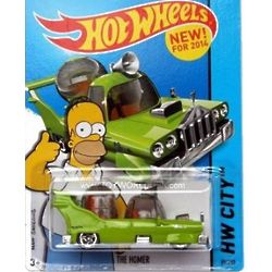 The Simpsons HWY City Homer Hot Wheels Car