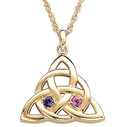 Celtic Knot Couple's Birthstone Pendant