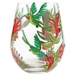 Hummingbird Stemless Wine Glass