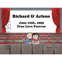 Lover's in the Theater Friendly Folks Personalized Cartoon