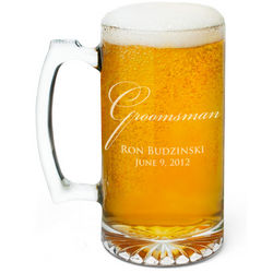 Wedding Party Personalized Beer Mug