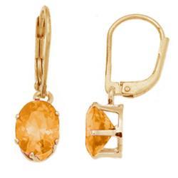 Crystal Birthstone Leverback Earrings