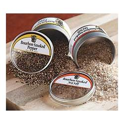 Bourbon Smoked Sea Salt and Pepper Tins
