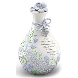 """Forget Me Knot"" Personalized Porcelain Bereavement Jar"