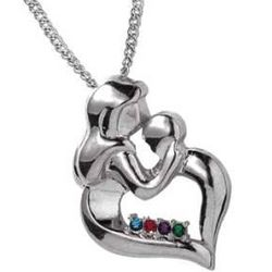 Mothers Embrace Birthstone Pendant