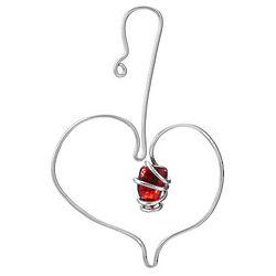Twisted Aluminum Heart Ornament