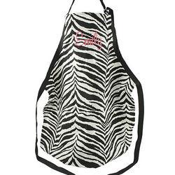 Personalized Zebra Full Length Apron