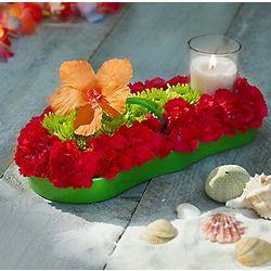 Fresh Flower Flip Flop Centerpiece