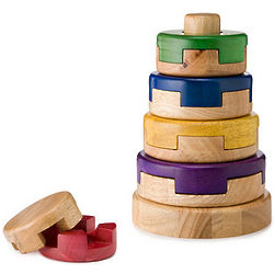 Wood Puzzle Stacker