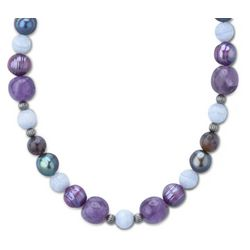 Freshwater Pearls and Gemstones Beaded Necklace