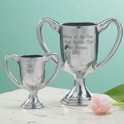 Large Engraved Aluminum Trophy