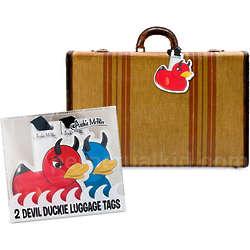 Devil Duckie Luggage Tags