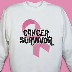 Personalized Cancer Survivor Ribbon Hooded Sweatshirt