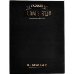Large Personalized Reasons I Love You Chalkboard
