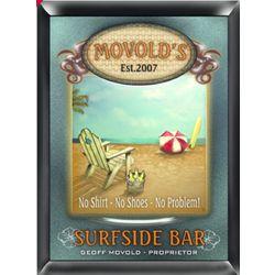 Surfside Bar Design Personalized Pub Sign