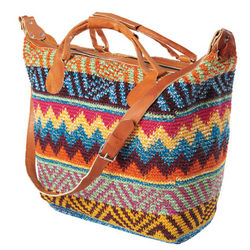 Woven Weekender Overnight Bag