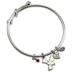 Silver Confirmation Bangle Bracelet